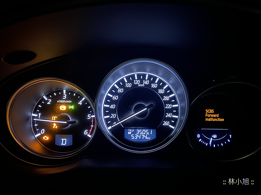 MAZDA CX5 儀錶板出現 SCBS Forward malfunction 訊息,同時胎壓、循跡、引擎警示橘色警示故障全亮 (ifans 林小旭) (6).png