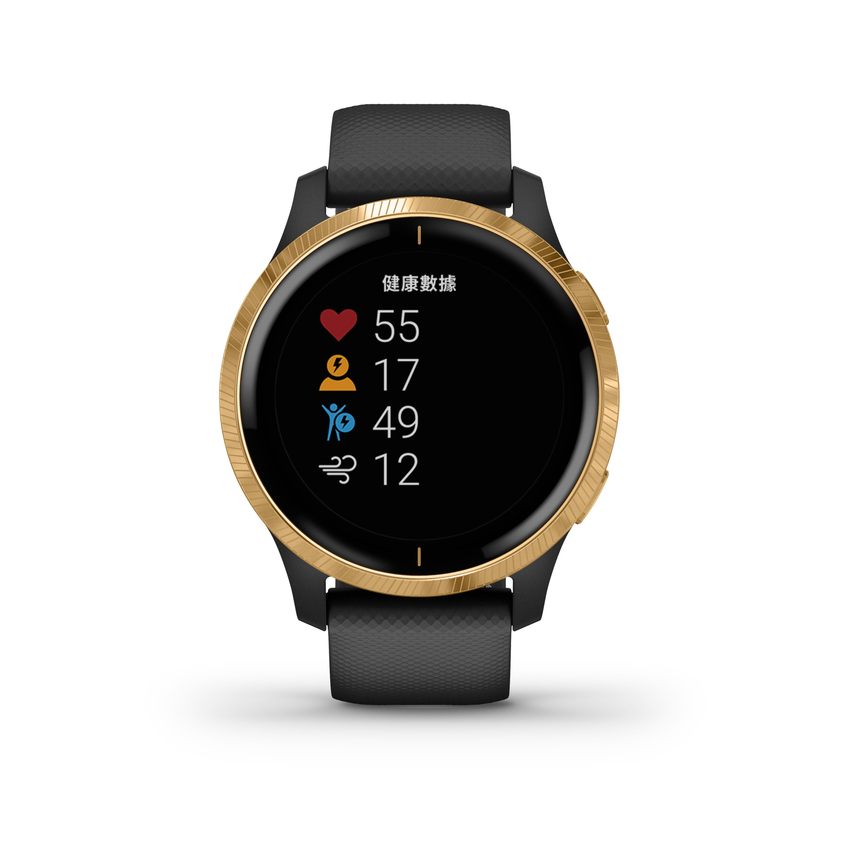 Garmin Venu AMOLED GPS智慧腕錶主動式生理數據監測搭配運動分析及建議,幫助使用者檢視自己的健康狀態及運動成效,建議售價NT$13,900元。-3.png