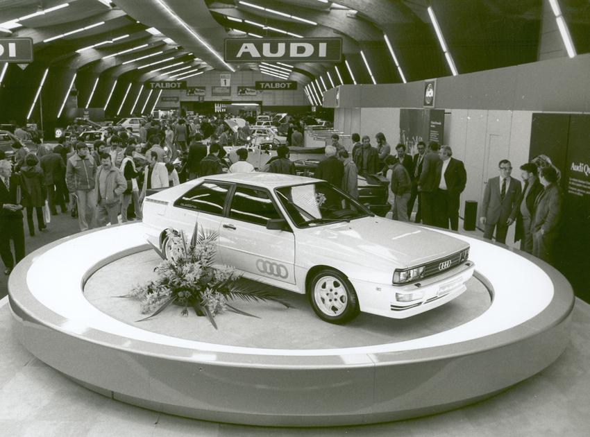 圖1:Presented at Automobilsalon in Geneva 1980 The Audi quattro.png