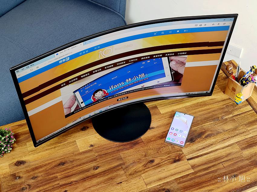 除了月彎彎螢幕也彎彎!Samsung 三星 32 型 1000R 曲面護眼螢幕 CT55 開箱 (上篇)