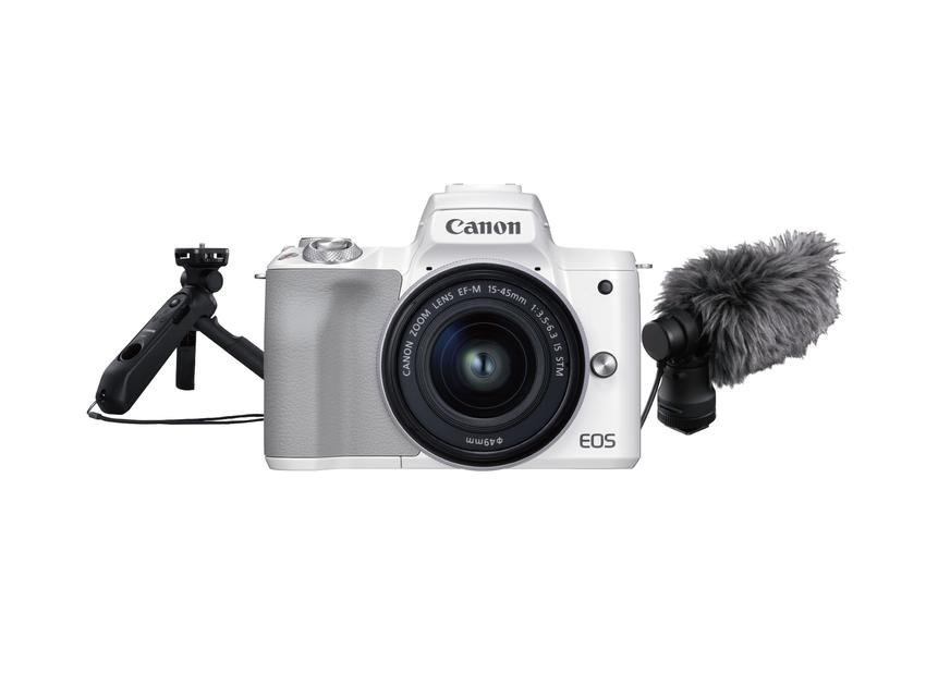 (03) Canon 推出【Vlogger 限量影音組合】,EOS M50 Mark II 除了搭配 EF-M 15-45mm 鏡頭,加上 Canon 原廠立體聲麥克風及三腳架手把,組合優惠價只要 NT$25,900元 (含稅).png