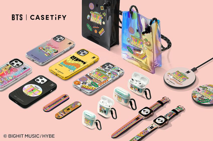 生活/CASETiFY 三度攜手 BTS 推出以歌曲「Dynamite」為聯名主題的 Apple 週邊配件