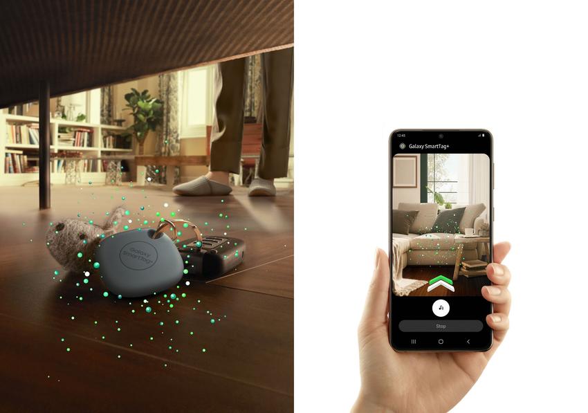 【新聞照片1】Galaxy SmartTag+搭載BLE及UWB,輔以擴增實境(AR)技術,精準度更上一層樓.png