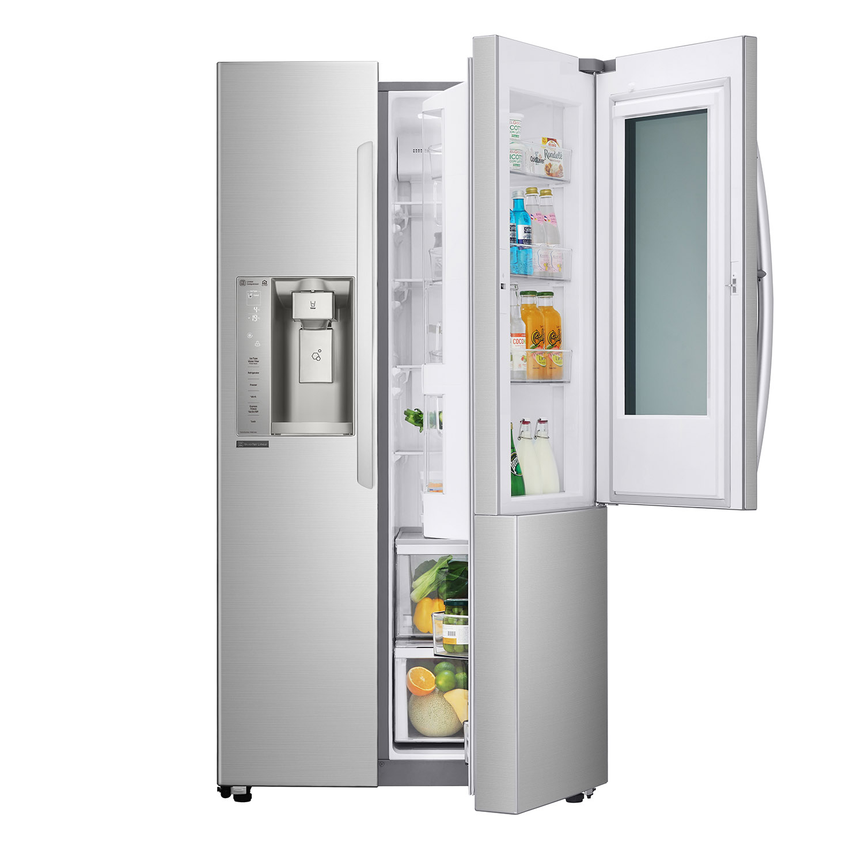 3 - LG InstaView 敲敲看門中門冰箱具備獨家魔術邊門空間,外部設計玻璃面板,只要輕敲兩下,無須開門便可將內部食材一覽無遺。.png