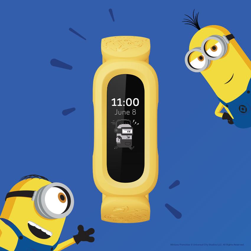 圖二:Fitbit Ace 3 小小兵特別版擁有獨家小小兵動畫錶面,活潑的小小兵會持續鼓勵新「主人」們保持動力並顯示活動指標達成率等數據.png