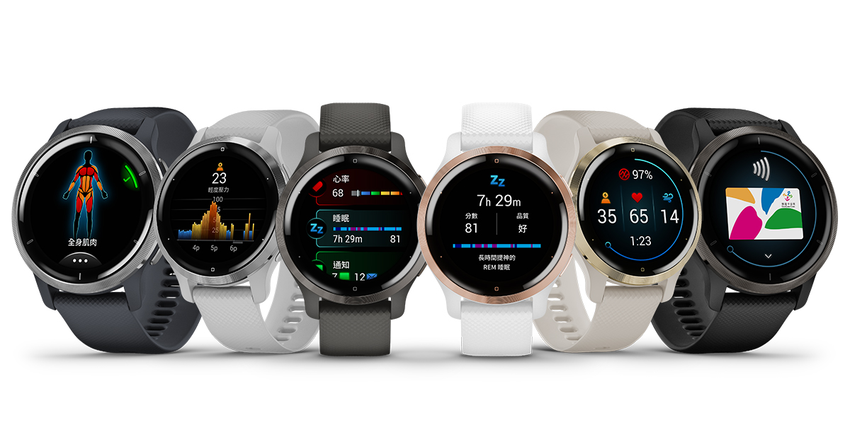 「VENU 2系列GPS智慧腕錶」以多彩輕盈的外型設計搭載細膩鮮豔畫質的AMOLED螢幕,6款時尚選色支援各式跨界穿搭,建議售價為$13,990元.png