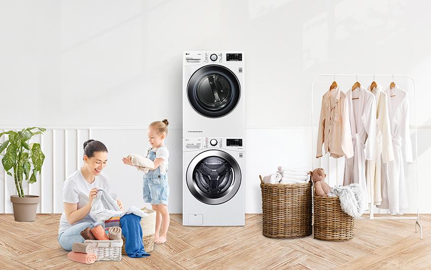 03 - 免曬衣乾衣機採用雙迴變頻壓縮機,免安裝瓦斯,只需110V即可使用更簡單更安心,還可依照使用需求與滾筒洗衣機堆疊,省時省電又省力,優雅完成衣物護理。.png