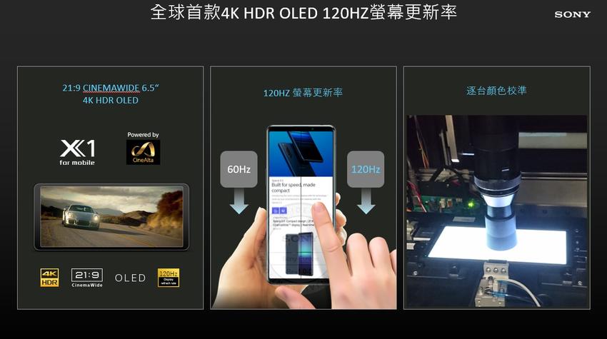 圖說四、Xperia 1 III為全球首款採用4K HDR OLED 120Hz螢幕更新率的智慧手機,帶來沉浸式觀影饗宴.png