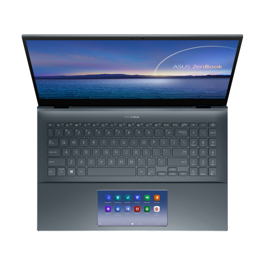 ASUS ZenBook Pro 15 OLED搭載獨家5.65吋ScreenPad 2.0智慧觸控板,類智慧型手機介面與應用程式提升工作效率。.png