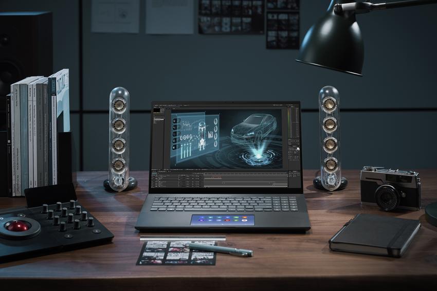 ASUS ZenBook Pro 15 OLED創作時多工運算得心應手,是平面設計及影像工作者最佳利器。.png