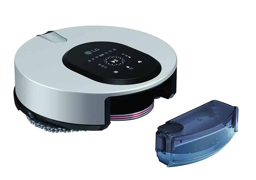 04 - LG CordZero ThinQ M9銳眼雙旋拖地機器人擁有300 ml 超大容量水箱及智慧供水系統,透過 LG ThinQ App操控,能提供 5 段出水量選擇,由電動馬達控制,讓拖布保持適當水份及濕度,地板清潔從此省力有效率!.png