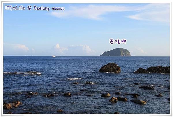 從八斗子海邊眺望基隆嶼