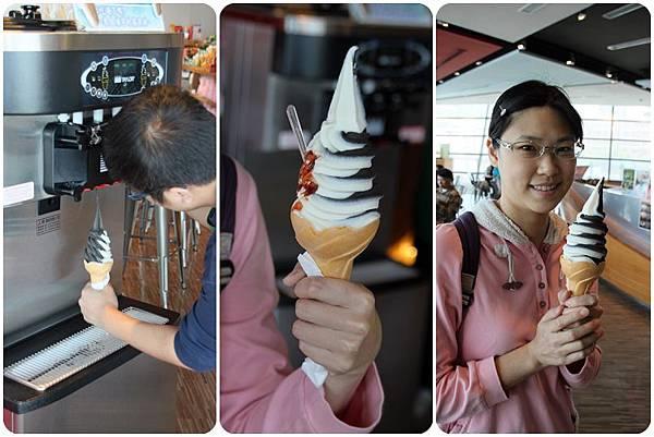 墨魚 櫻花蝦冰淇淋