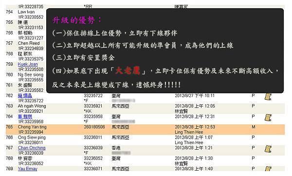 2012-09-25 恭喜 Chong Yan ting 看懂商機加入VEMMA的大家庭