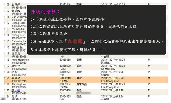 2013-01-27 恭喜 吳 孟盈 看懂商機加入VEMMA的大家庭