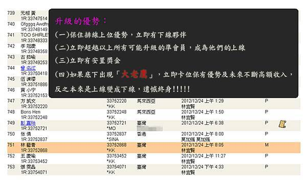 2013-01-31 恭喜林 藝青 看懂商機加入VEMMA的大家庭