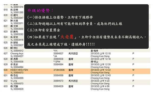 2013-02-14 恭喜 HSIEH NING FEN 看懂商機加入VEMMA的大家庭