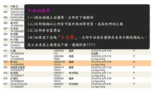 2013-02-23 恭喜 陳 幸珍 看懂商機加入VEMMA的大家庭
