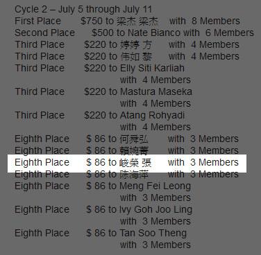20130801恭喜 維瑪峻榮 七月份第二週賺到86美金.jpg