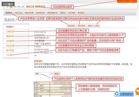 Vemma Back Office (簡稱VBO) 常用功能模組的介紹2