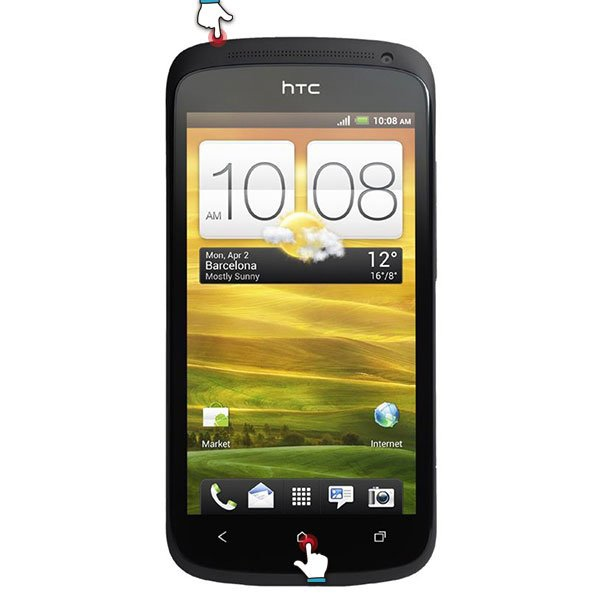 HTC系列:電源鈕 + Home鈕