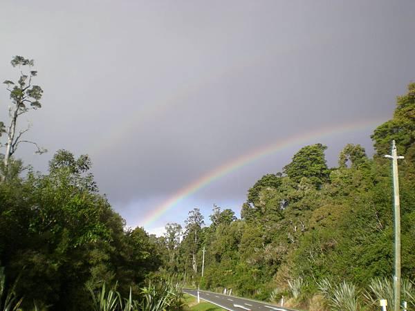 在西海岸遇見雙彩虹