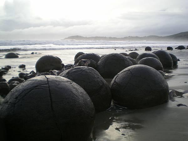 moeraki的大圓石