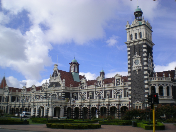 富有歷史氣息的Dunedin railway station