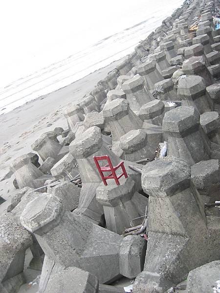 一個人看海的椅子