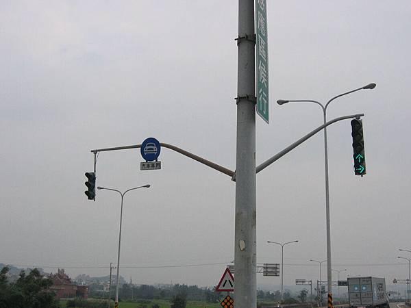 濱海公路上的號誌燈