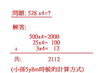 小孫的數學運算邏輯