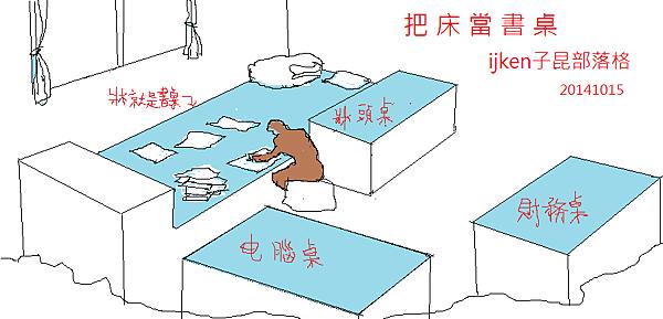 把床當書桌 - 複製
