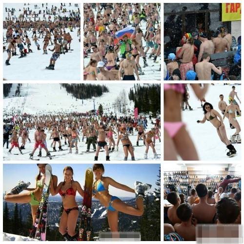 西伯利亞裸體滑雪