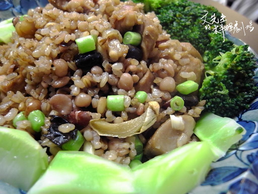 孜然雞肉炒五榖米飯
