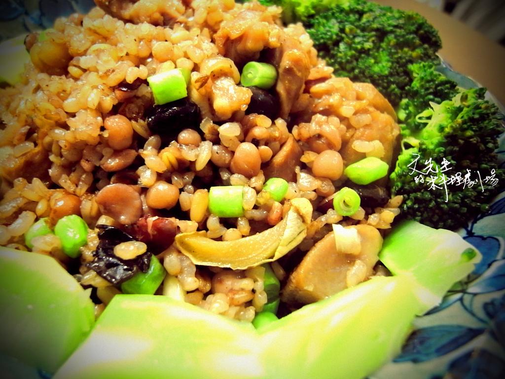 孜然雞肉炒五榖米飯lomo版