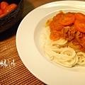 黃金番茄魚醬麵
