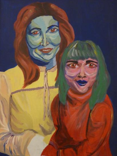 糟糕藝術媽媽與小女孩