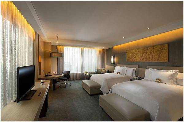 首爾港麗飯店Conrad Seoul QUAD 2大床