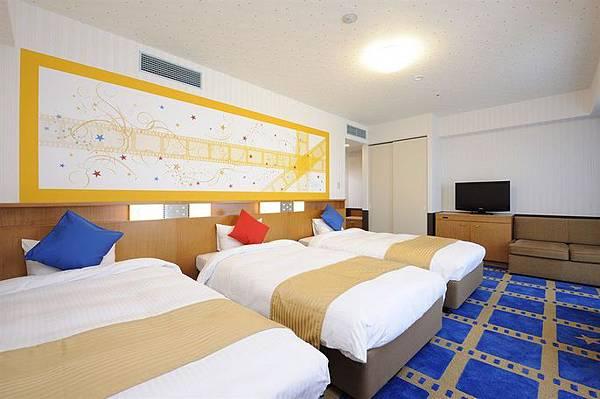 大阪京阪環球城市飯店Hotel Keihan Universal City TRP 三小床