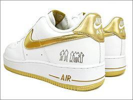 AIR FORCE 1 25週年紀年 GOLD 全白 金勾限定1