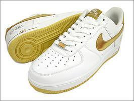 AIR FORCE 1 25週年紀年 GOLD 全白 金勾限定