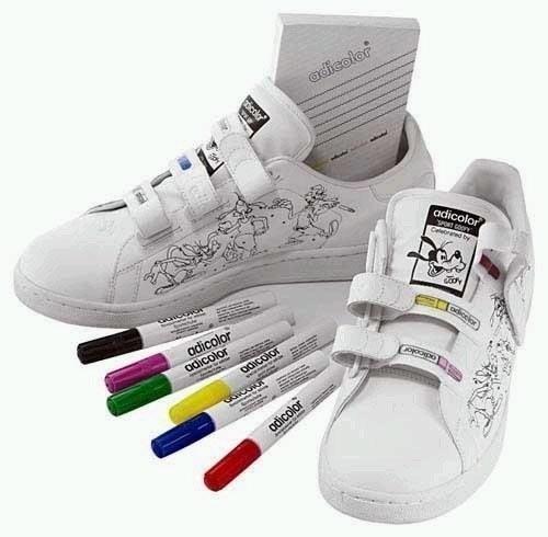 Adidas Adicolor W4 高飛狗 塗鴉 彩色筆