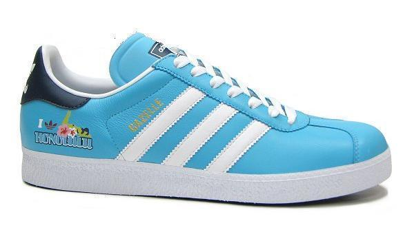 Adidas gazelle HONOLULU 夏威夷風格 藍底白線