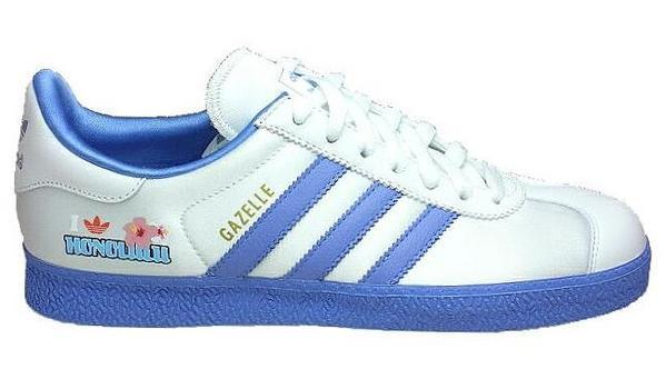 Adidas gazelle HONOLULU 檀香山 白底藍線