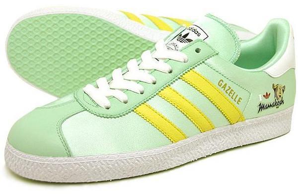 Adidas gazelle MARRAKESH 嫩綠黃線