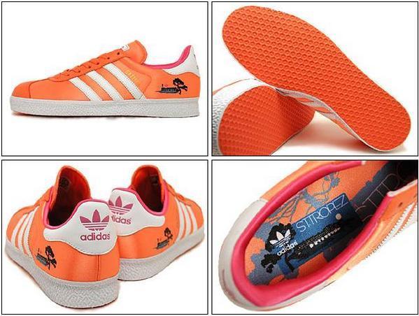 Adidas gazelle ST.TROPEZ 聖羅培茲 橘底2