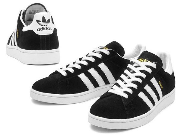 Adidas Original Campus II 黑白金麂皮