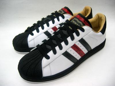 Adidas original SUPERSTAR 1 LUX MMVII 白黑紅 蛇紋限定