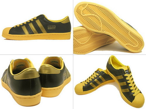 ADIDAS SUPERSTAR VINTAGE 黑黃配色