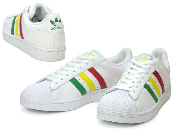 Adidas Superstar 白雷鬼 牙買加 紅黃綠皮革面